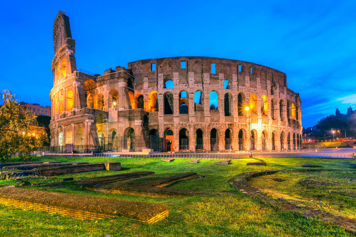 The Great Coliseum in Rome, Italy Coliseum Colosseo Pantheon Roma St. Peter's Basilica Trevi Fountain Vatican Italy San Pietro Sant'angelo Tiber