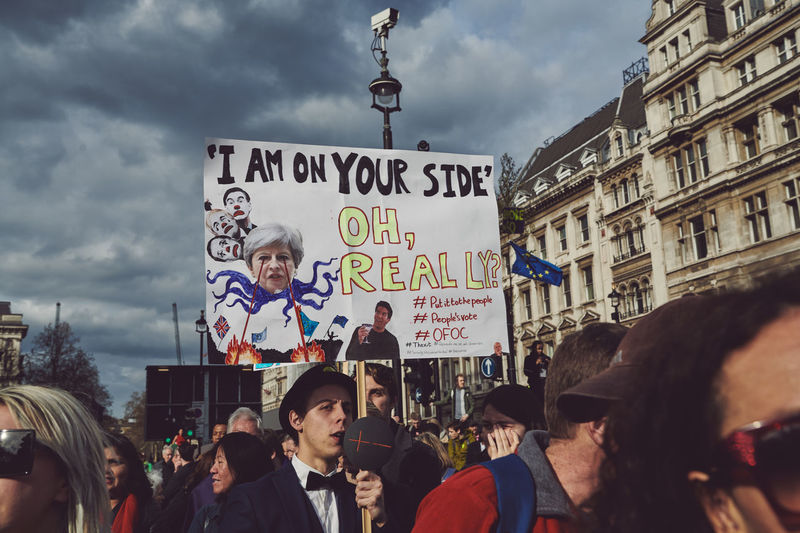 The Peoples Vote March in London - Over 1 million supporters in attendance. Brexit Brexit Protest People People Photography Street Photography Streetphotography Group Of People Large Group Of People Crowd Cloud - Sky Real People Building Exterior Text Architecture Built Structure Women City Street Communication Adult Nature Men Western Script Outdoors Message