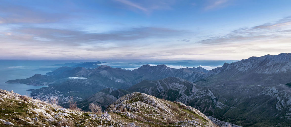 Balkans Sky Mountain Cloud - Sky Beauty In Nature Scenics - Nature Tranquil Scene Tranquility Environment Non-urban Scene Landscape No People Nature Idyllic Outdoors Panoramic Photography Panorama Balkans Sunrise Mountain Peak Mountain Range Rock Montenegro