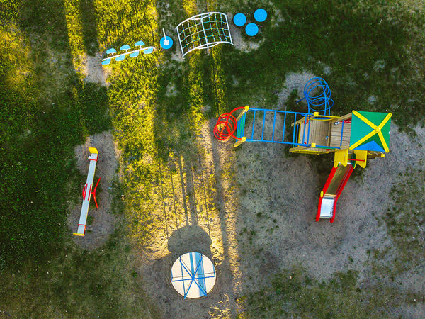 Playground Aerial Shot DJI X Eyeem Drone  Lietuva Absence Aerial Aerial View Arrow Symbol Day Europe Fun Growth Hanging High Angle View Land Leisure Activity Mavic Mavic Pro Multi Colored Nature No People Outdoors Plant Playground Sport Transportation Tree Wheel