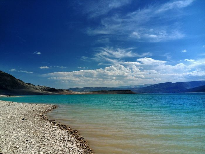 Sea Water Beach Nature Scenics Blue Sky Beauty In Nature Sand Outdoors Tranquility Landscape Travel Destinations Vacations No People Day Horizon Over Water Dagestantravel Dagestan Traveling Travel Mountain Beauty In Nature Tranquility LeTv X600
