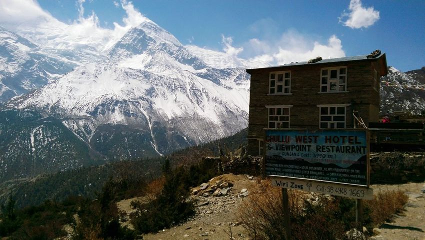 Annapurna Annapurna Conservation Area Annapurnacircuit Annapurna Trail Snow Winter Mountain Text Window Cold Temperature Sky Architecture Building Exterior Built Structure