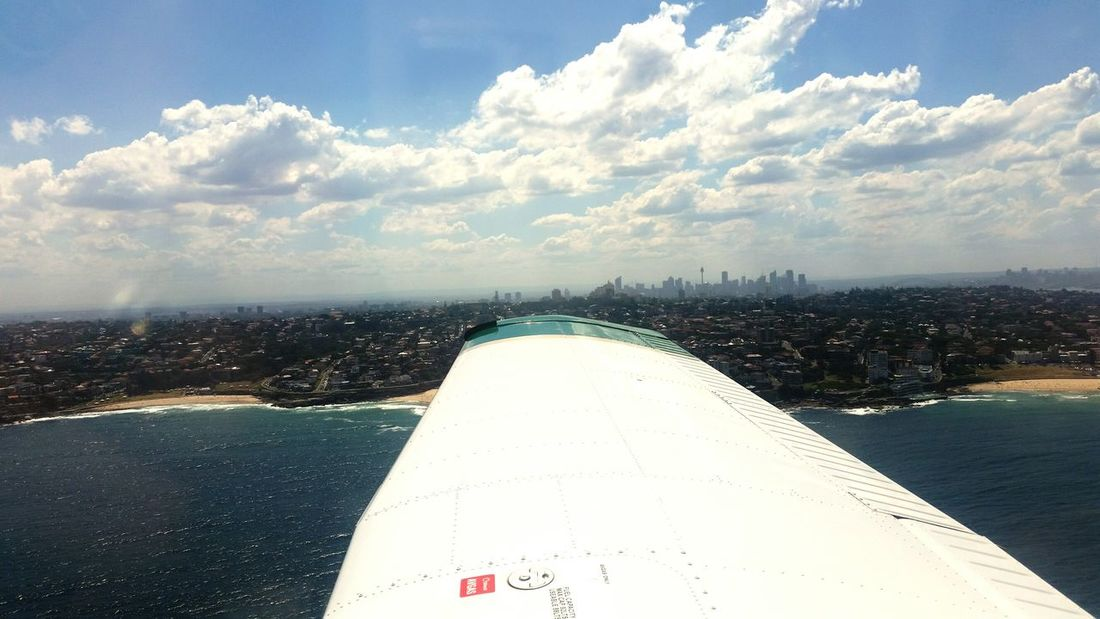 Flying the Archer through Sydney Harbour Pa28 Aviation Avgeek Womeninaviation Wefly Femalepilot
