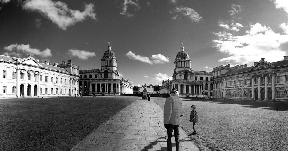 London LONDON❤ Greenwich Greenwich Naval College Blackandwhite Panorama Pano