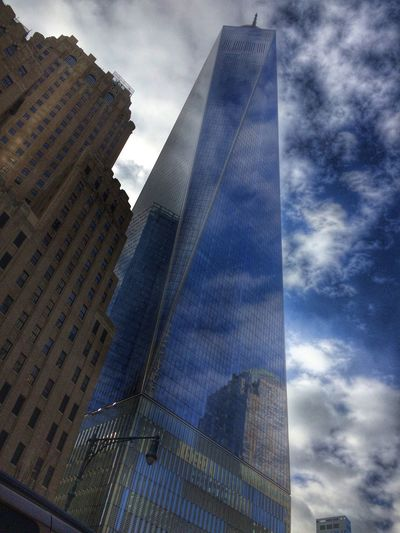 The freedom tower, New York, USA, World Trade Center, city scape, building, sky, clouds, skyscrapers Check This Out