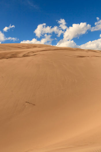 Scenic view of great sand dunes national park