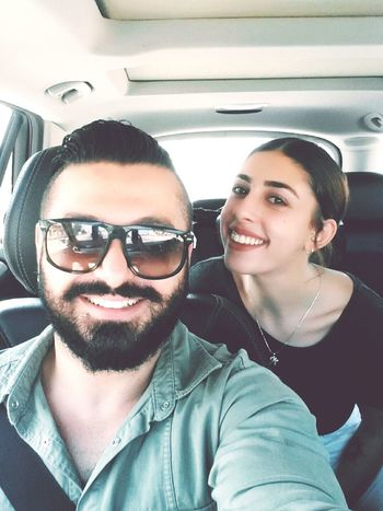 EyeEm Gallery Firends  Sunny Sunny Day Eyeem Firends Happy Happy People Happy Time Cyprus Kıbrıs Selfie ✌ Selfi Car Incar Sunglasses Friendship Portrait Smiling Togetherness Passenger Seat Couple - Relationship Cheerful Car Interior