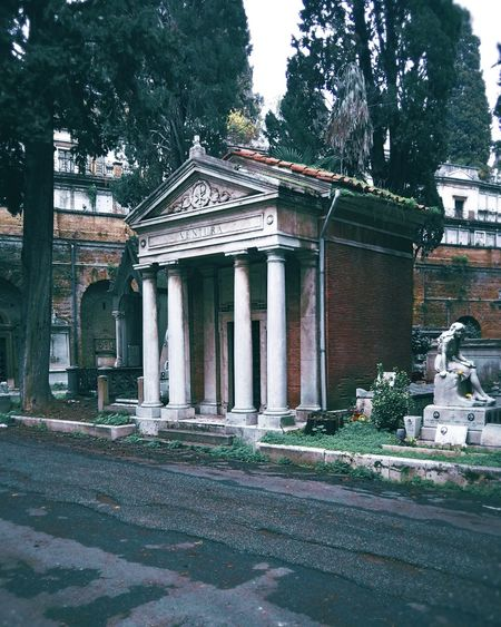 A spooky place Cemetery Italy Tomb Park Rome Built Structure Architecture Building Exterior Day Outdoors No People Tree