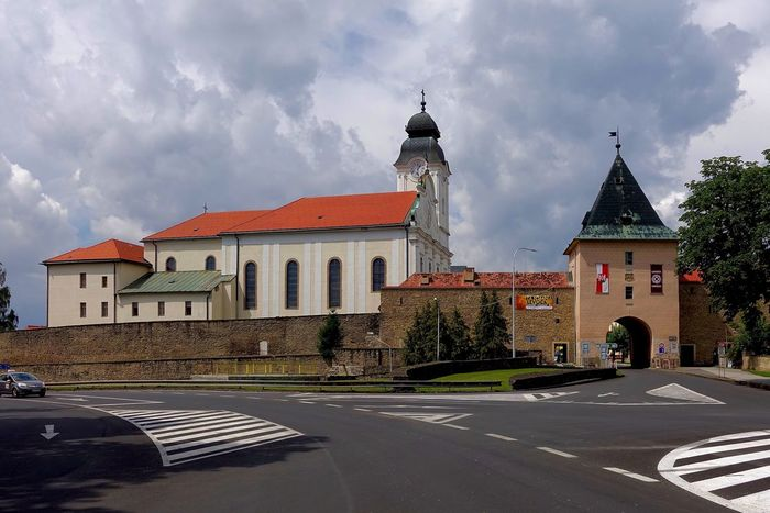 The city gate of Levoca in Slovakia. Levoca is an UNESCO World Heritage Site. Architecture Building Exterior Built Structure City Gate Cloud Cloud - Sky Exterior Façade Levo No People Outdoors Road Sky Slovakia Travel Destinations UNESCO World Heritage Site