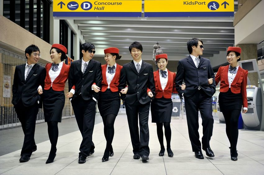 Weddings Around The World Canadian Chinese Weddingnot the real Flight Attendant have wedding pictures at YYC Airport