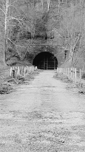 WPT Bike Ride Biking Outdoors Trail WPT Pennsylvania Abandoned Tunnel TunnelPorn Bridge Gated  Gate Black And White