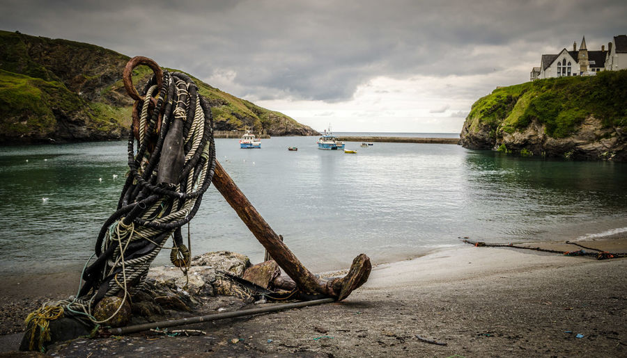 Be. Ready. Water Nature Cloud - Sky Outdoors Sea No People Day Scenics Nautical Vessel Beach Beauty In Nature Tree Sky Landscape_Collection Landscape Portisaac Cornwall Fishing