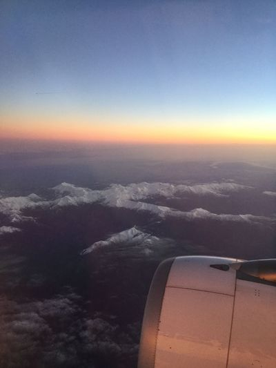 Airplane Aerial View Journey Transportation Cloudscape Beauty In Nature Cloud - Sky Nature Air Vehicle Airplane Wing Sunset No People Travel Sky Aircraft Wing Mode Of Transport Jet Engine Scenics Flying Outdoors