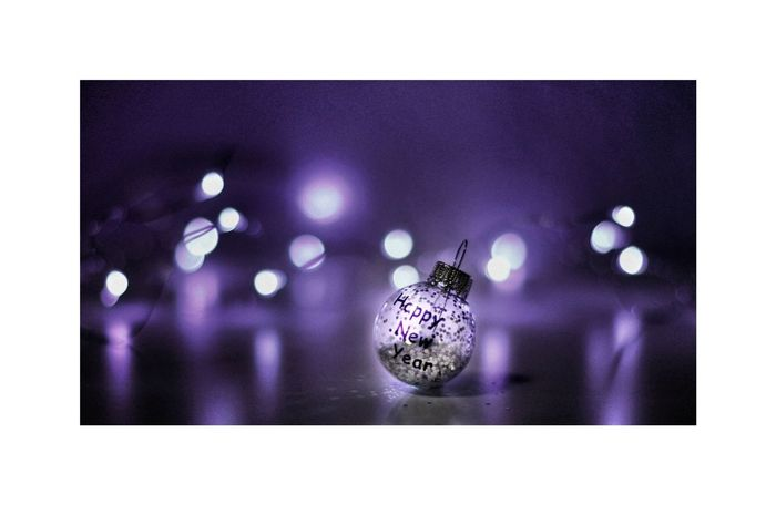 Happy New Year Jahreswechsel Glitzern NewYear Arts Culture And Entertainment Purple Indoors  Preparation  No People