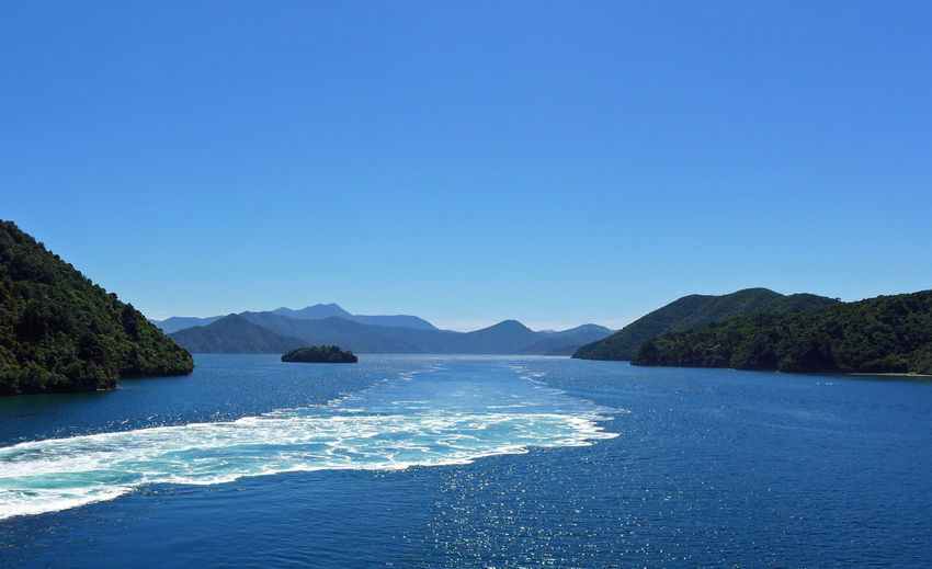 Beauty In Nature Cook Strait, New Zealand Idyllic Marlborough Sounds Mountain New Zealand No People Water