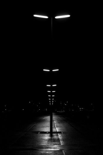Architecture Black And White Blackandwhite Illuminated Lined Up Lined Up In A Row Night No People The Way Forward