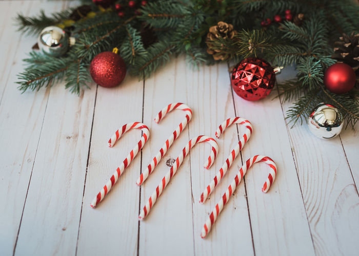 Candy canes on
