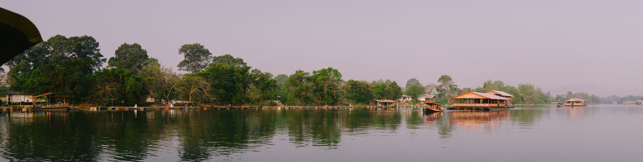 Water Tree Plant Lake Built Structure Architecture House Tranquility Nature Beauty In Nature Reflection Scenics - Nature No People Sky Building Tranquil Scene Building Exterior Residential District Outdoors Boathouse Cottage