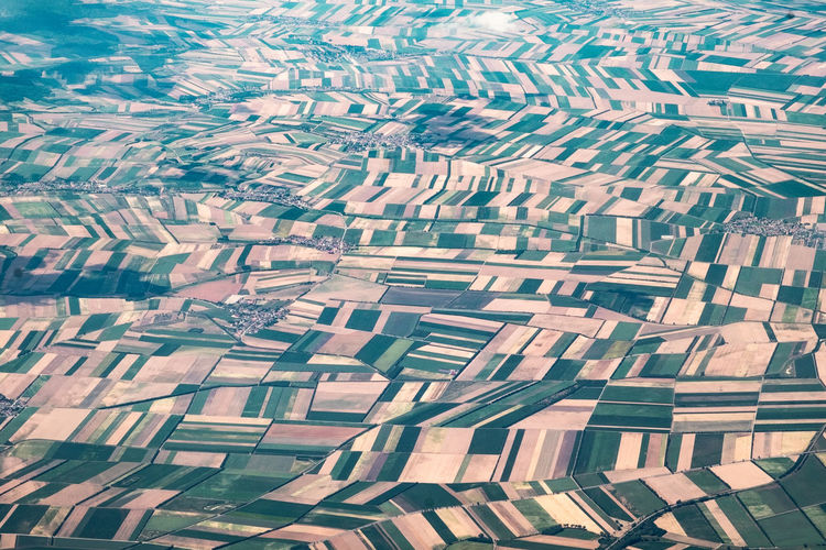 Agriculture Field Natural Pattern Abundance Aerial View Architecture Backgrounds Beauty In Nature Building Building Exterior Built Structure City Day Design From An Airplane Window Full Frame Geometric Shape High Angle View In A Row Nature No People Outdoors Pattern Repetition Sunlight