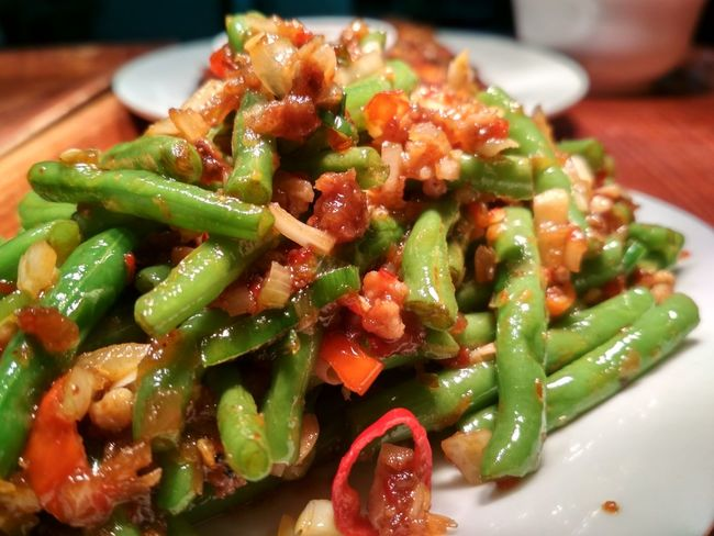 young string Bean ? EyeEm Selects Plate Healthy Lifestyle Chinese Food Vegetarian Food Vegetable Close-up Food And Drink