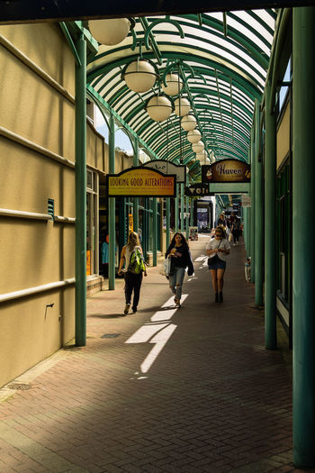 http://www.davidwallphoto.com/detail/44349-Shops-and-shoppers,-Albion-Place-pedestrian-mall,-Dunedin,-South-Island,-New-Zealand.html Shopping Architecture Day Mall People Real People Walking Women