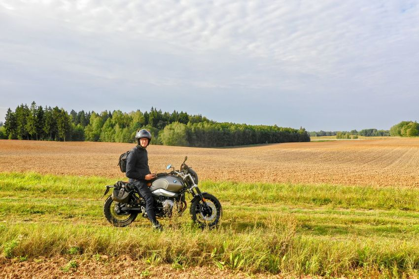 Selfie One Person Men Sky Rural Scene Field Landscape Cloud - Sky Land Agriculture Nature Adult Real People Sitting Transportation Day Leisure Activity Riding