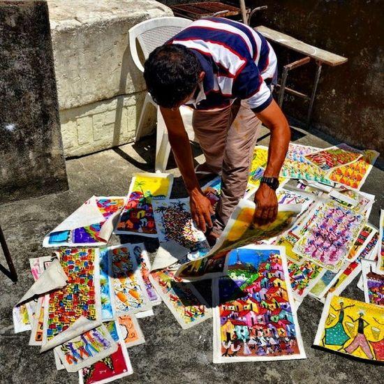 Arte Favela Rocinha Riodejaneiro Brasil colorful neighborhood dotspin igers Urban cities Latinamerica Artist Art painting