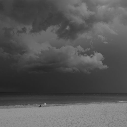 storm is arriving Beach Life Beach Photography Black & White Nature Photography Relaxing Beach Beauty In Nature Cloud - Sky Horizon Land Outdoor Photography Scenics - Nature Seascape Sky Storm Storm Cloud Summer Sky And Clouds Tranquil Scene Tranquility Water Waterfront