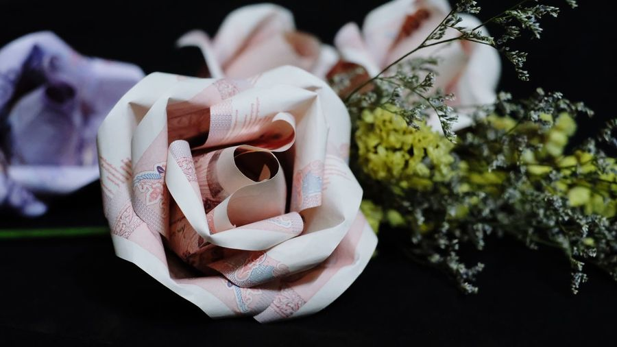 Close-Up Of Artificial Rose Decoration
