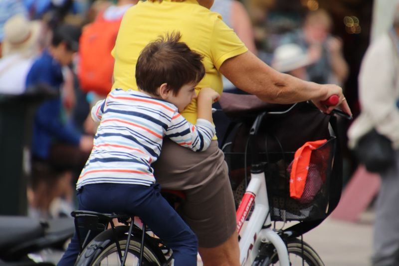 Women Bicycle Child Mode Of Transportation #NotYourCliche Love Letter Togetherness Childhood