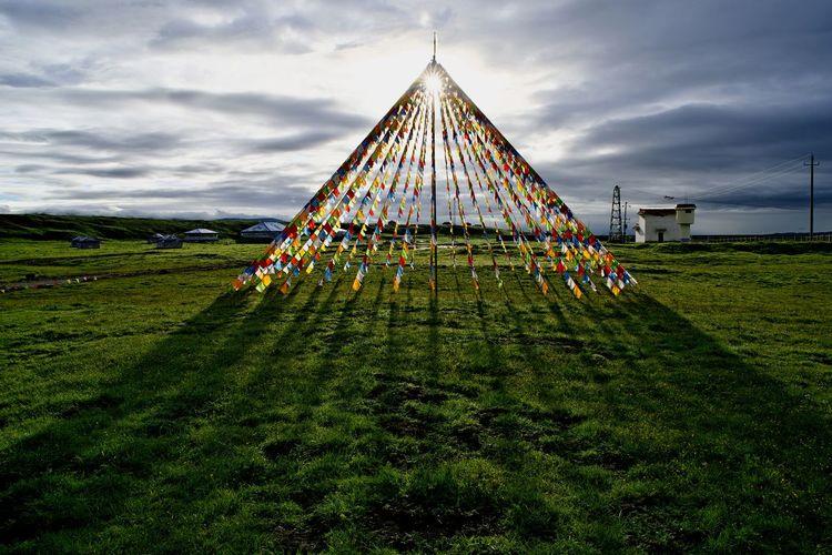 经幡 Prayer Flags  Sky Grass Cloud - Sky