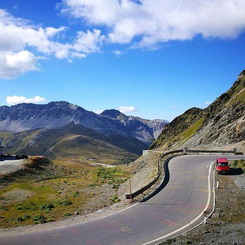 Stelviopass Sky And Clouds Road Roadtrip ❤ Cloud - Sky Mountain Range Mountain Road Sky Outdoors Miles Away EyeEmNewHere
