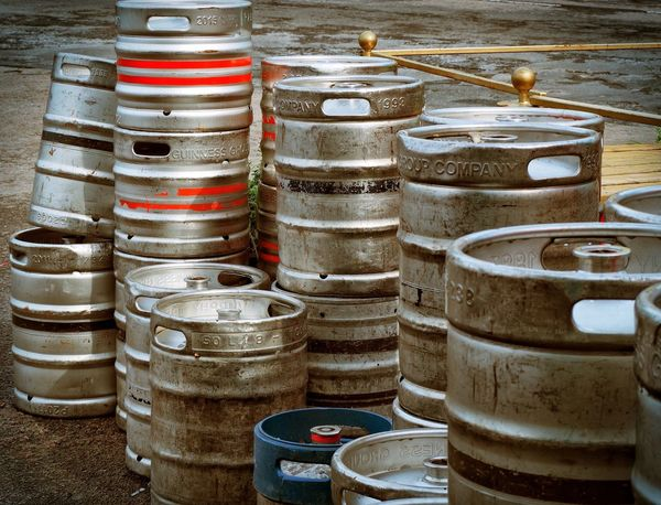 Beer Beer Kegs Business Finance And Industry Close-up Culture Day History Ireland Irish Large Group Of Objects No People Outdoors Paint Can Town Travel