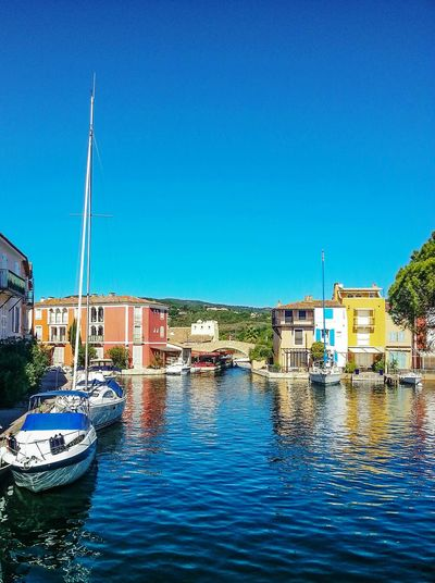 Port grimaud ⚓ Port Grimaud Port Grimaud France Holiday EyeEm Best Shots Holidays Boats Boat Harbor Blue Sky Water Architecture Reflection Waterfront Day Nautical Vessel Clear Sky No People Blue Outdoors Building Exterior Built Structure Sky