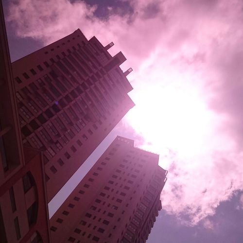 Architecture Tower Low Angle View Façade Cloud - Sky Pink Color No People Ivan_mont Minas Gerais Belo Horizonte Brazil Beaga Bh Nova Lima