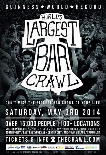If anyone is in the Philly area, please make it out to hopefully the worlds biggest bar crawl. I'll definately be there!! TheVille Streamzoofamily DiveBars DrunkShots