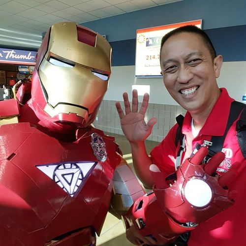 Hanging with my Homeboy Ironman ! SuperheroGoal Jelly much GoRevs