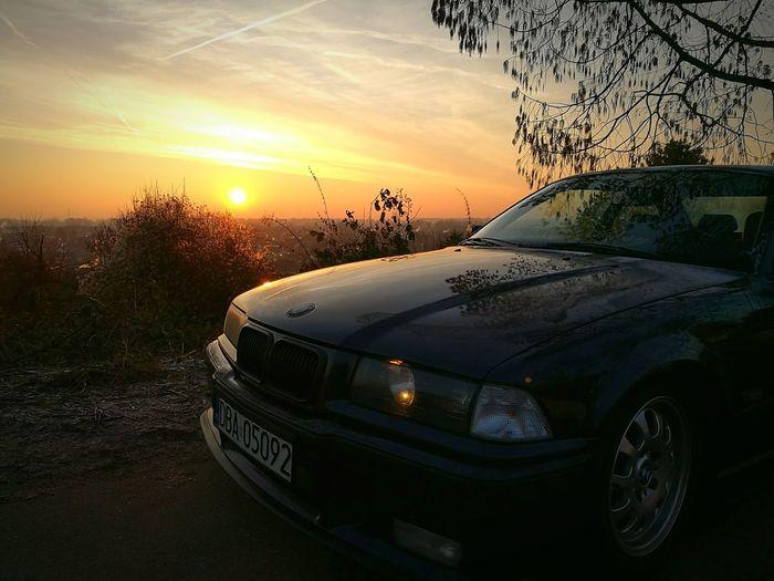 Car Bmw Car Bmw E36 BMW!!! Bmw I ♥ It Mainz Germany Mainz Poland Sunset Sunlight Sun Panorama