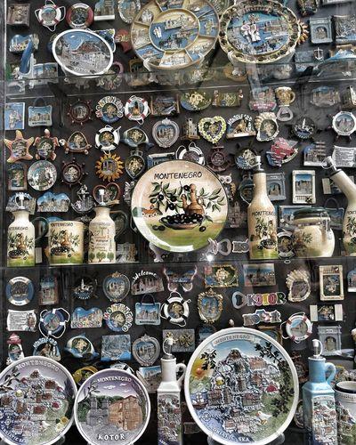 No People Montenegro Kotor Souvenir Oldtown Ceramic Magnet Man Made Object Plate Decoration Memories Design Display Vacation Creativity Cute First Eyeem Photo
