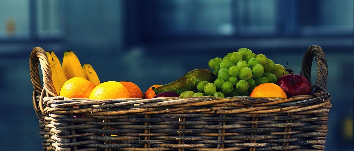 Fruit Basket Abundance Basket Close-up Food Food And Drink Freshness Fruit Group Of Objects Healthy Eating Large Group Of Objects Selective Focus Vegetable Yellow