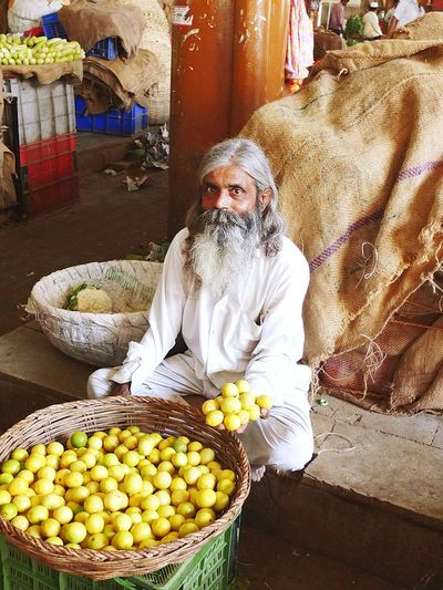 Lemons Market Fruits Amazing People India