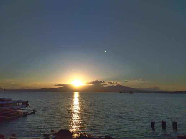 A Beautiful Sunrise Sea Sun Sky Water Scenics Reflection Beauty In Nature Outdoors Cloud - Sky Sunlight