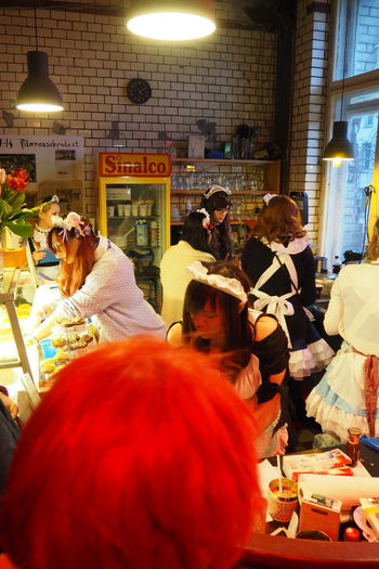 Berlin Business Casual Clothing Cosplay Culture Disguise Indoors  Japanese  Japanese Culture Japanese Style Lifestyles Maids Real People Young Adult Young Women