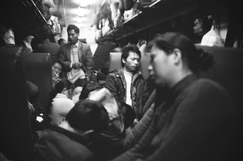 Group of people in bus