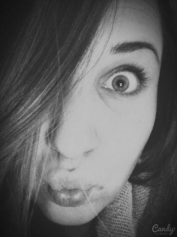 Kiss Girl Polishgirl Black And White Natural Beauty Just Smile  Shatin Look