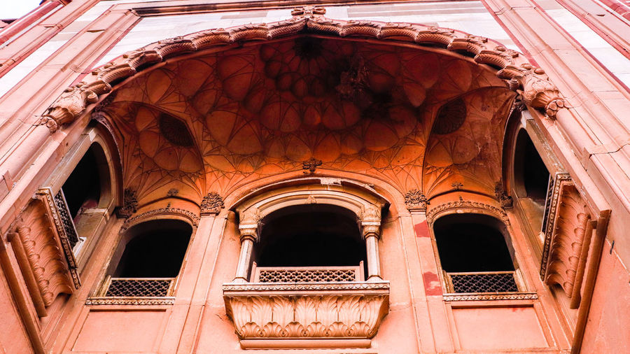 Low angle view of historical safdarjung tomb building window