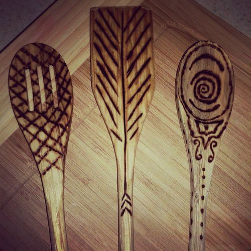 Wood burning spoons Beingcrafty Homedecor Christmas giftRusticliving