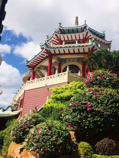 Philippine Taoist Temple ⛩ Temple Temples TaoistTemple Philippines Nature Flowers Colors Colorful
