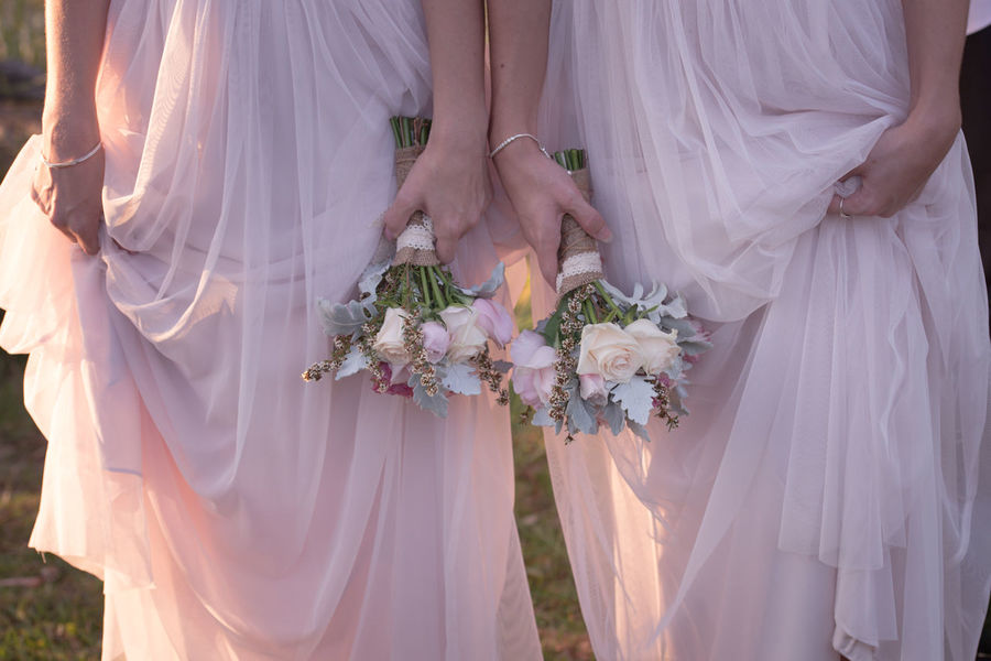 Bridesmaids and Bouquets Beauty In Nature Blooming Blossom Botany Bouquet Bridesmaids Close-up Day Flower Flower Head Focus On Foreground Fragility Freshness Lifestyles Mid Section Midsection Nature Part Of Petal Pink Dresses