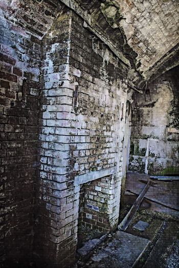 Old fireplace Fireplace #old Urbex Fort Fort Gilkicker Hampshire  England Full Frame Close-up Architecture Built Structure